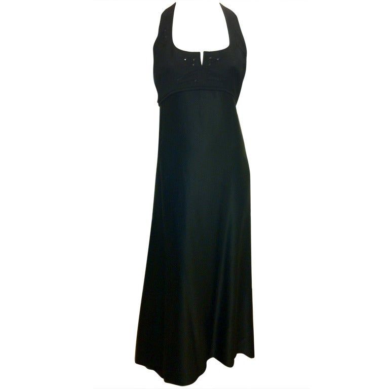 Chado Black Hammered Silk Gown