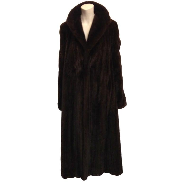 Birger Christensen Full Length Mink Coat At 1Stdibs-2965