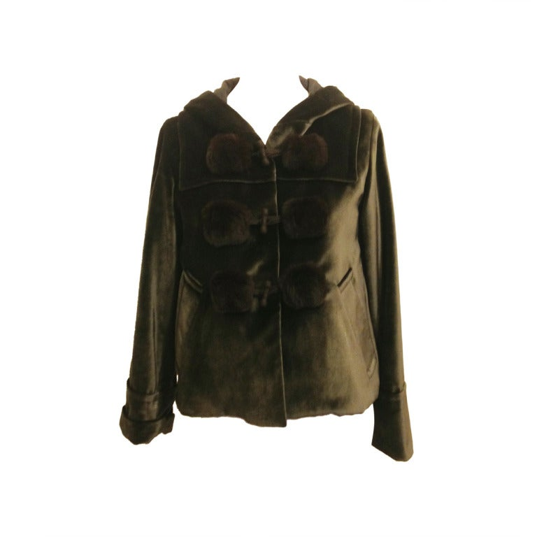Marc Jacobs Dark Green Velvet Jacket