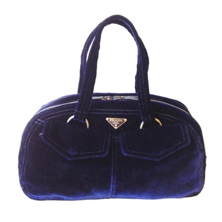 prada blue purse