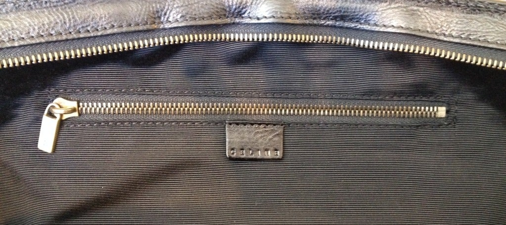 Celine Tweed and Leather Handbag For Sale at 1stdibs