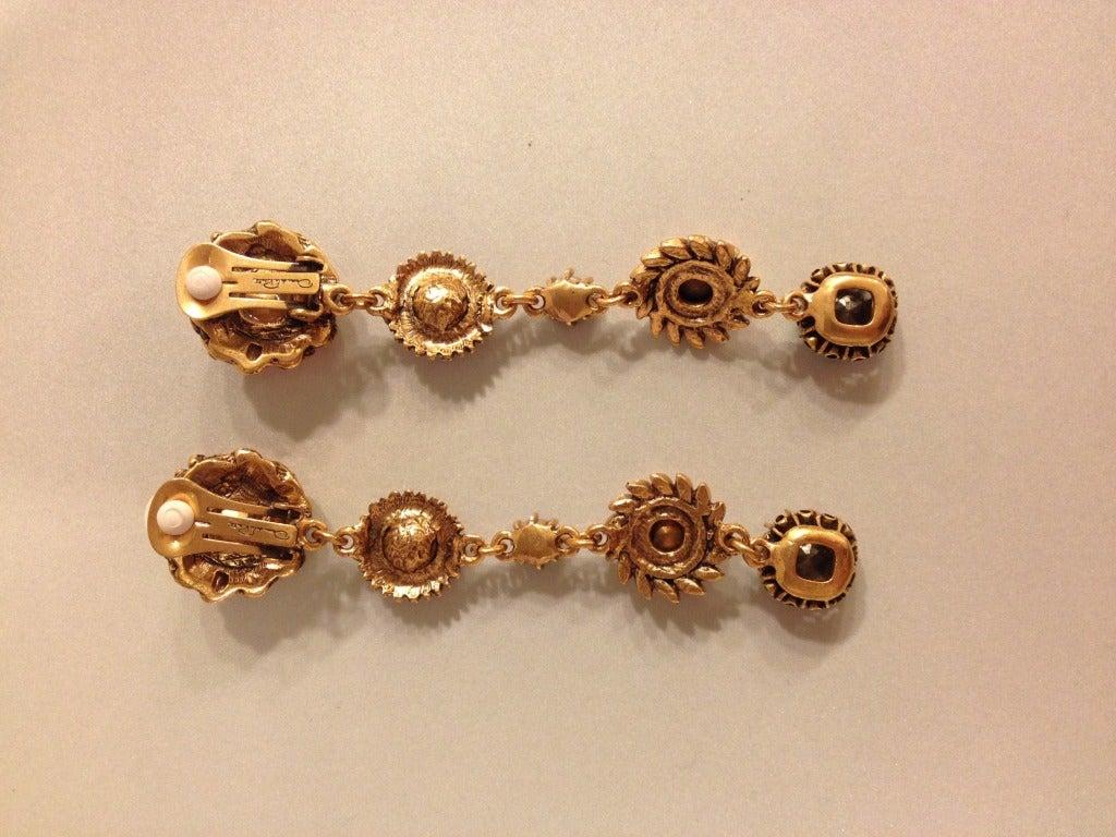 Oscar de la Renta Multi-Colored Jewel Earrings 4