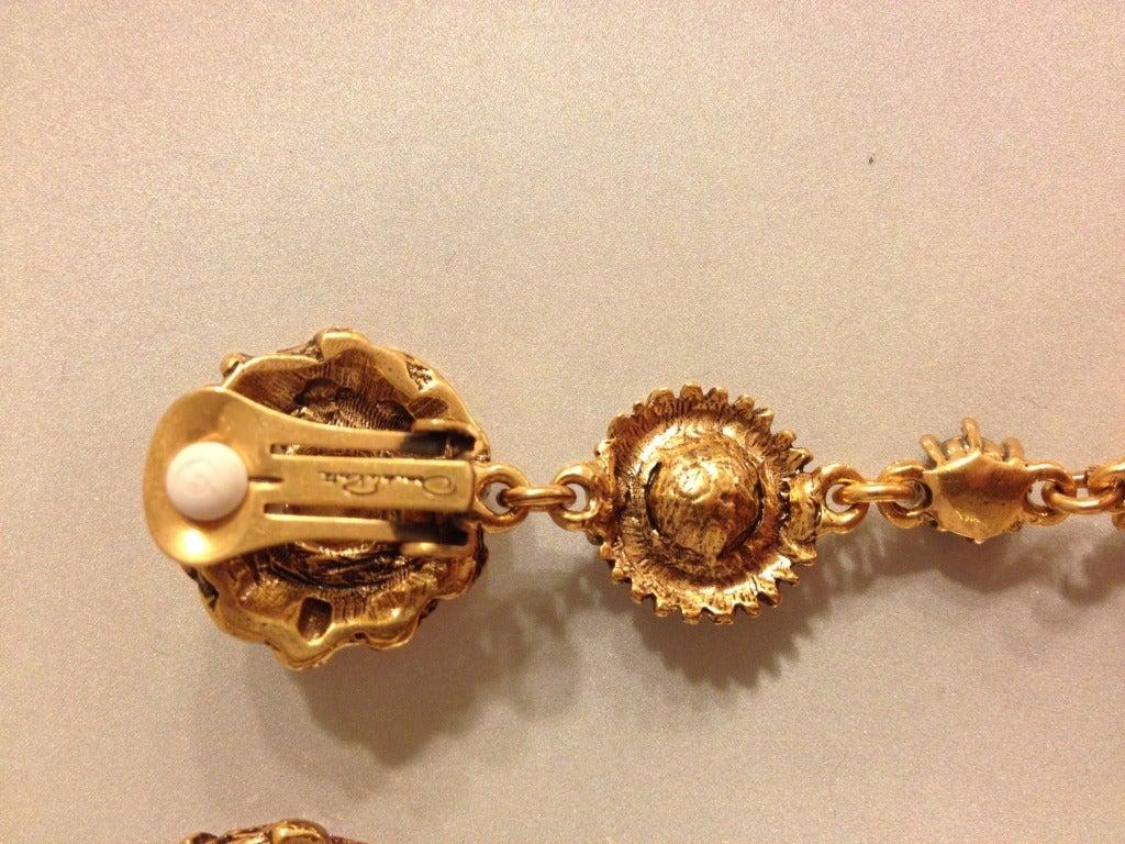 Oscar de la Renta Multi-Colored Jewel Earrings 5