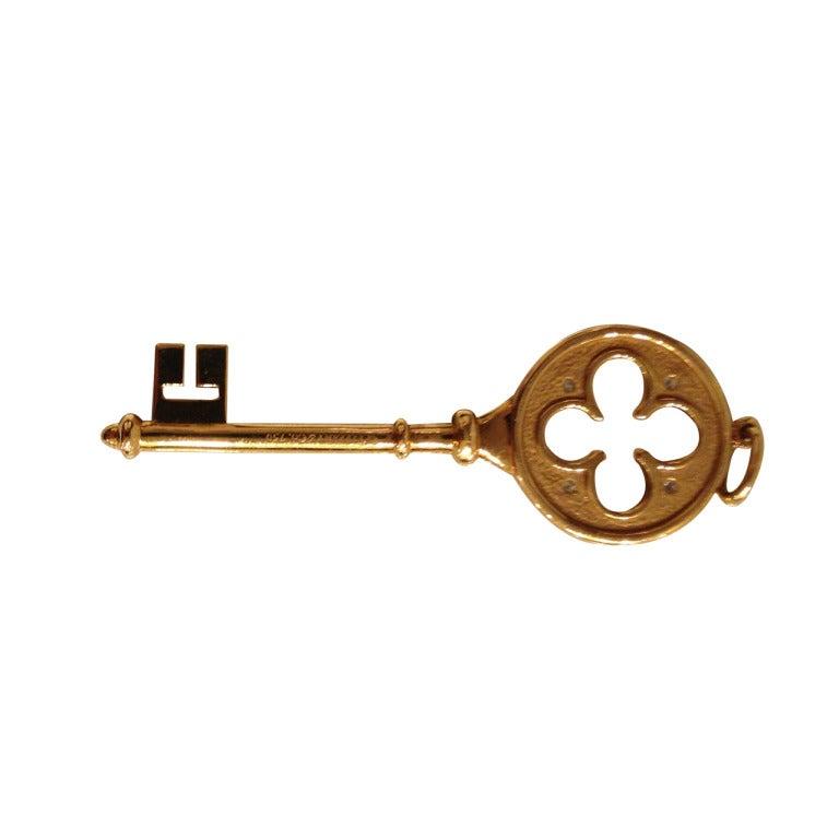 gold key pendant at 1stdibs