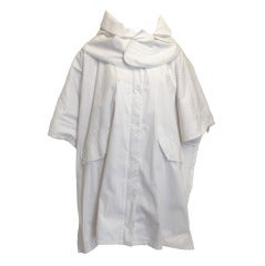 Givenchy White Jacket with Removable Hood and Roe Deer Hair Lining