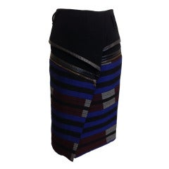 Proenza Schouler Wrap Skirt with Leather Trim