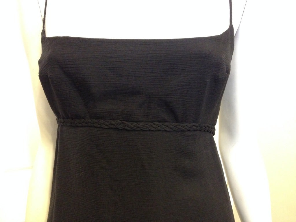 Chado Black Silk Chiffon Dress 2