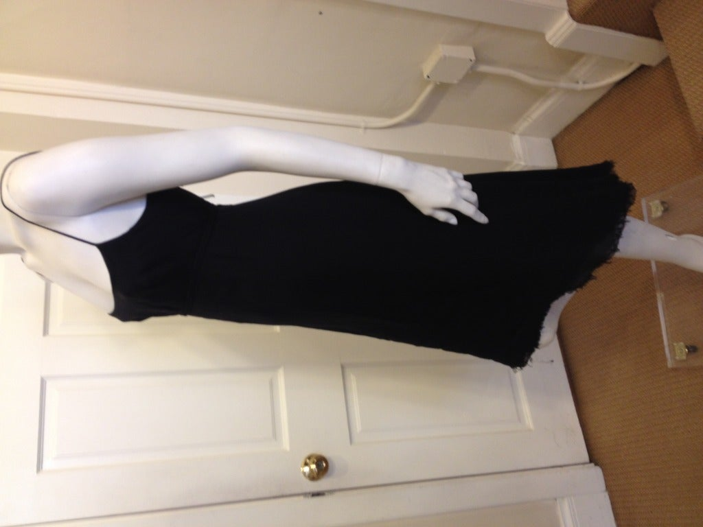 Chado Black Silk Chiffon Dress 5