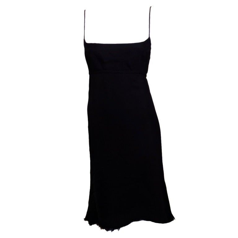 Chado Black Silk Chiffon Dress 1