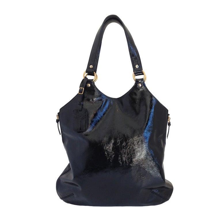 Yves Saint Laurent Tribute Bag Black Patent at 1stdibs