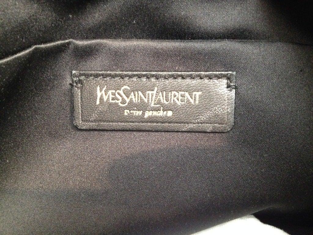 Yves Saint Laurent Black Patent \u0026quot;Downtown\u0026quot; Bag For Sale at 1stdibs