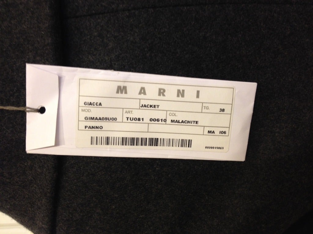 Marni Heather Gray Jacket In New never worn Condition For Sale In San Francisco, CA