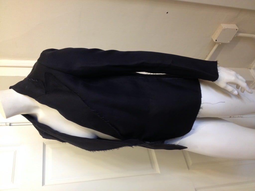 Women's Lanvin Black Silk Blazer For Sale