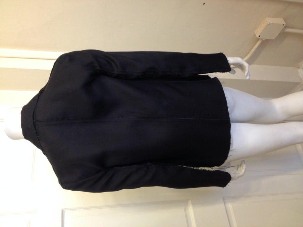 Lanvin Black Silk Blazer For Sale 1