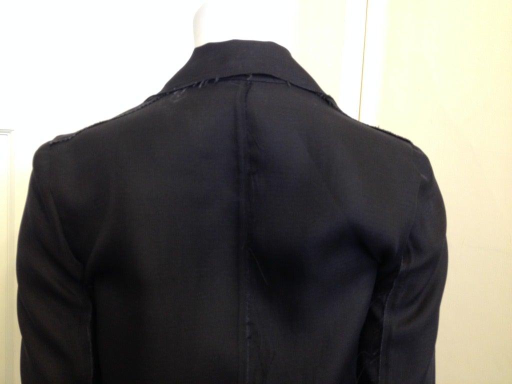 Lanvin Black Silk Blazer For Sale 2