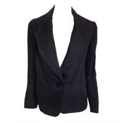 Lanvin Black Silk Blazer