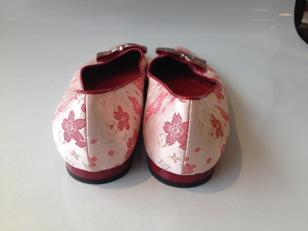 Louis Vuitton Cherry Blossom Murakami Ballet Flat In Excellent Condition For Sale In San Francisco, CA