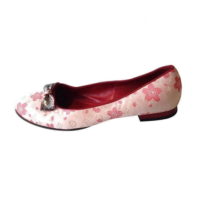 Louis Vuitton Cherry Blossom Murakami Ballet Flat 1