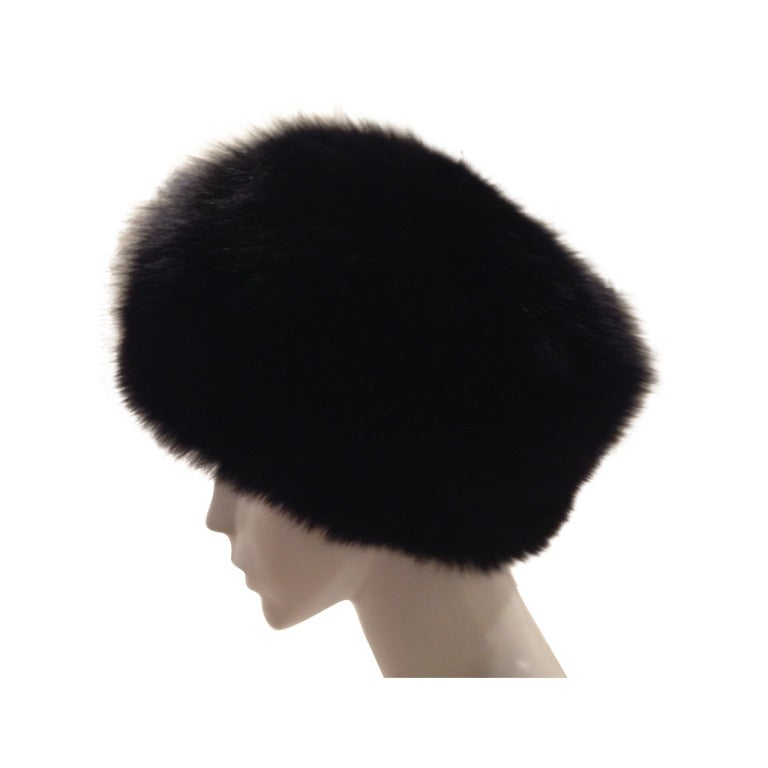 Eric Javits Black Mink Hat For Sale