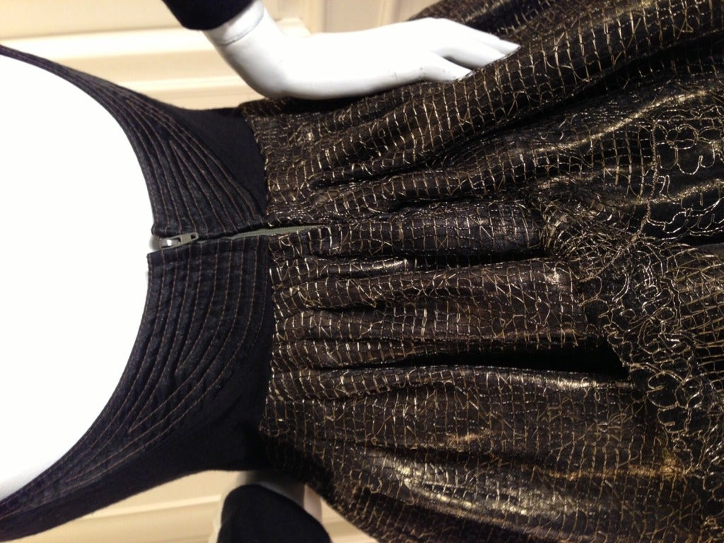 Geoffery Beene Black and Gold Dress In Excellent Condition For Sale In San Francisco, CA