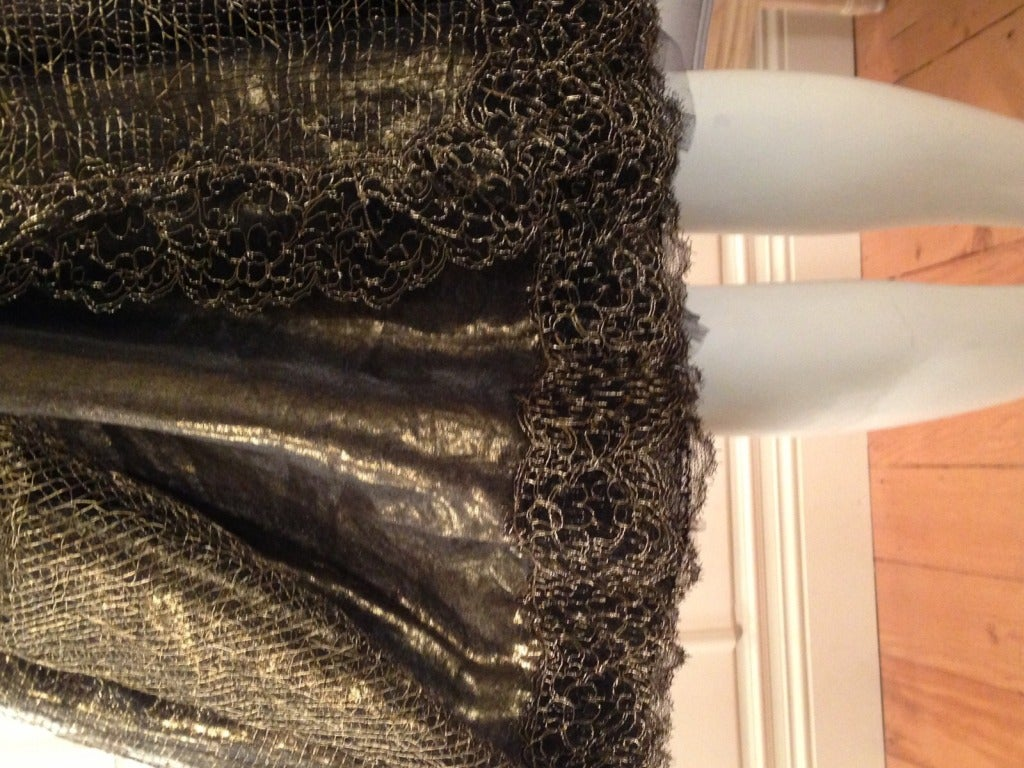 Women's Geoffery Beene Black and Gold Dress For Sale