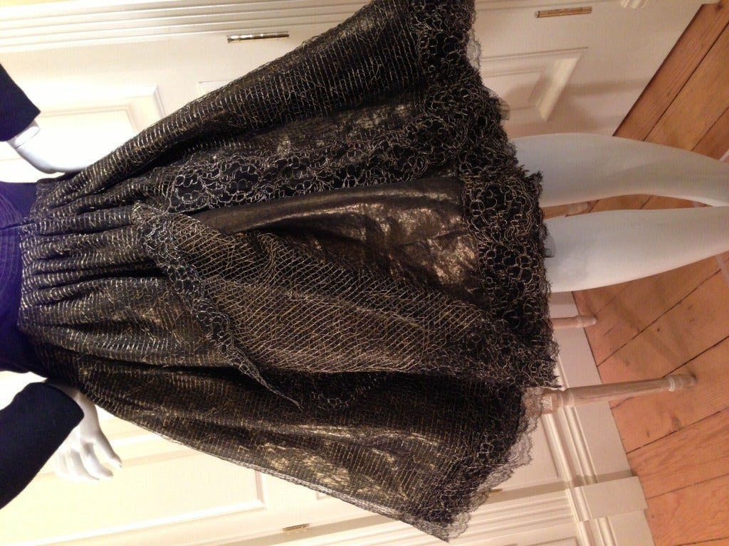 Geoffery Beene Black and Gold Dress For Sale 1