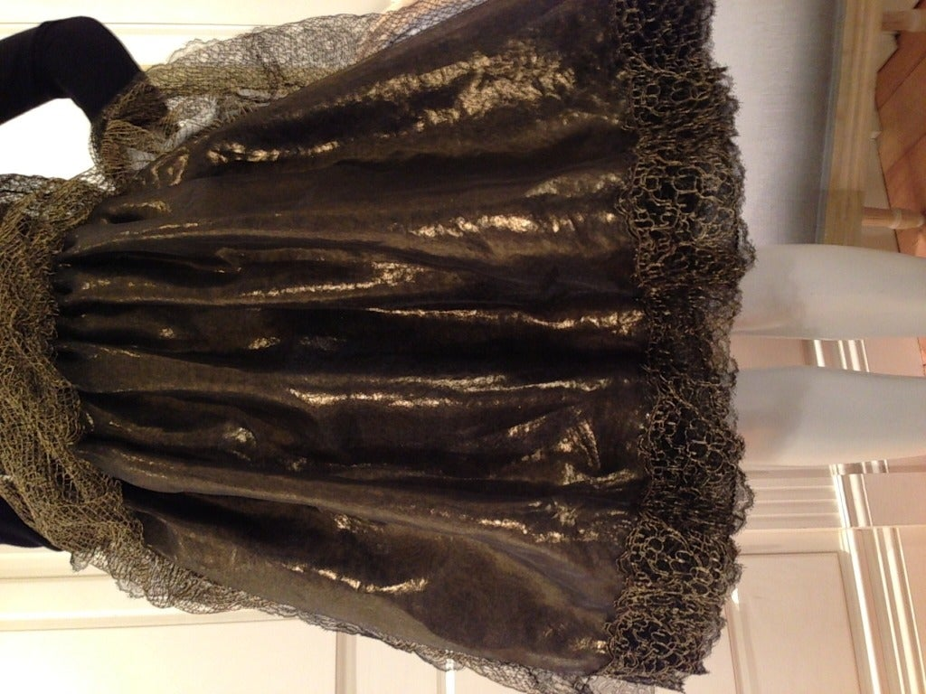Geoffery Beene Black and Gold Dress For Sale 4