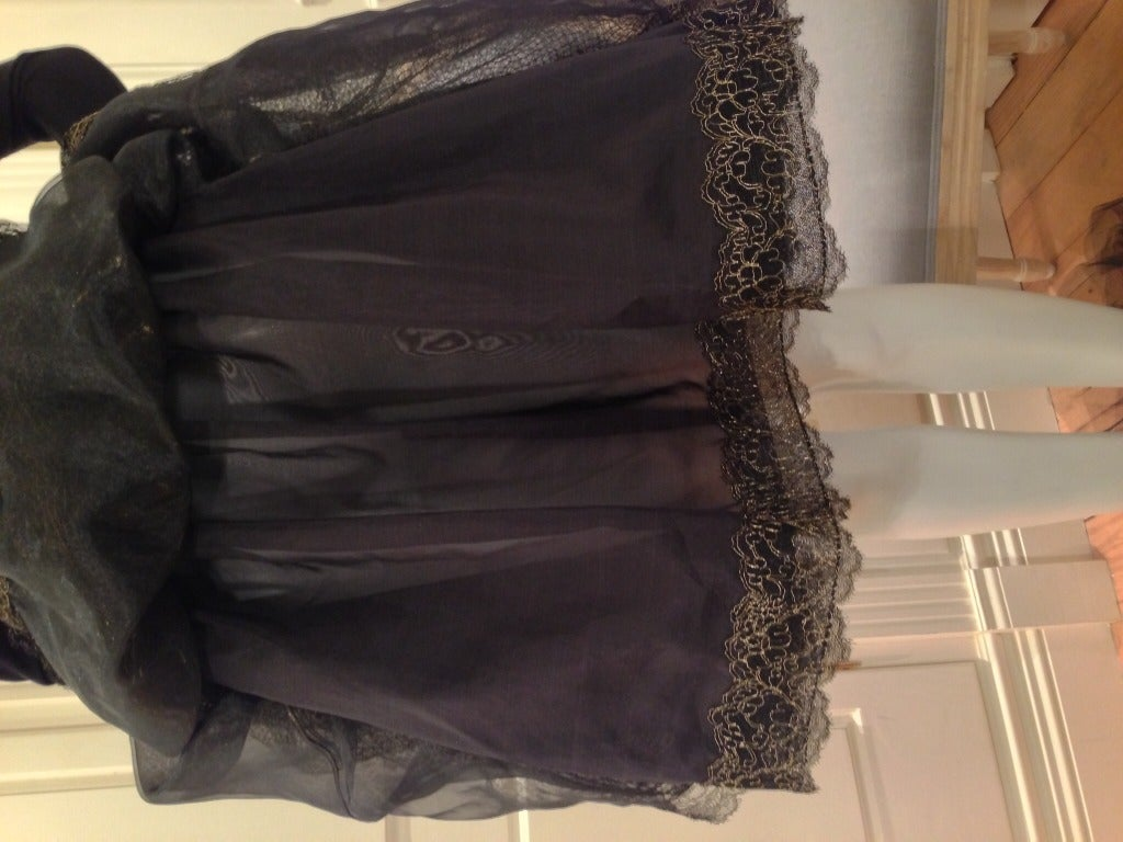Geoffery Beene Black and Gold Dress For Sale 5