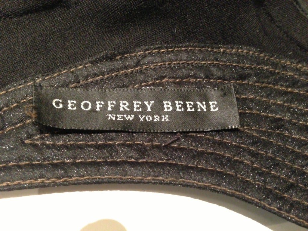 Geoffery Beene Black and Gold Dress For Sale 6