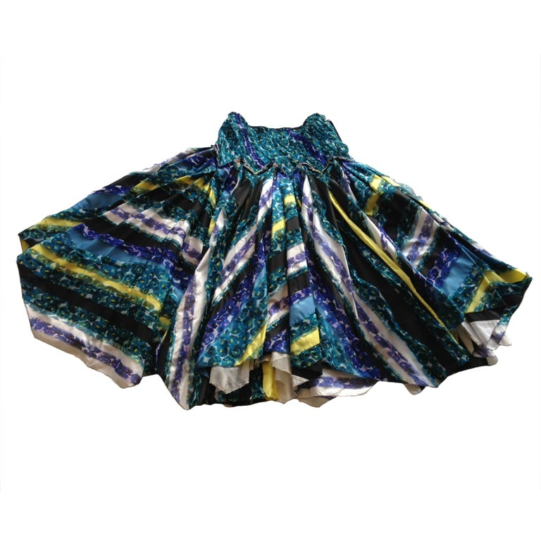 Louis Vuitton multi layered full party skirt