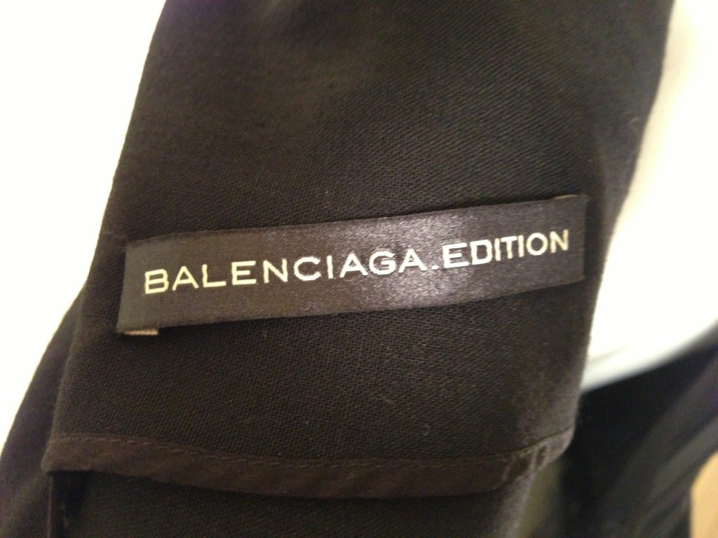 Balenciaga Black Cocktail Dress 8