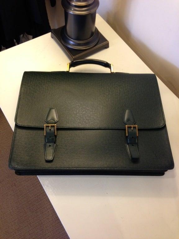 Louis Vuitton Green Attache Briefcase 7
