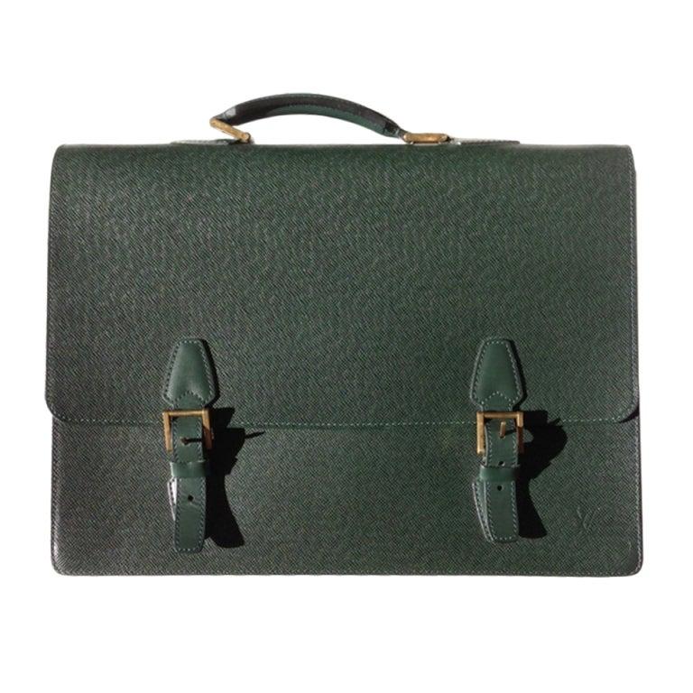 Louis Vuitton Green Attache Briefcase 1