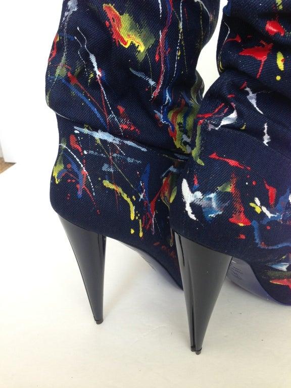 Alexander Mc Queen Color Splashes Jean Booties 4