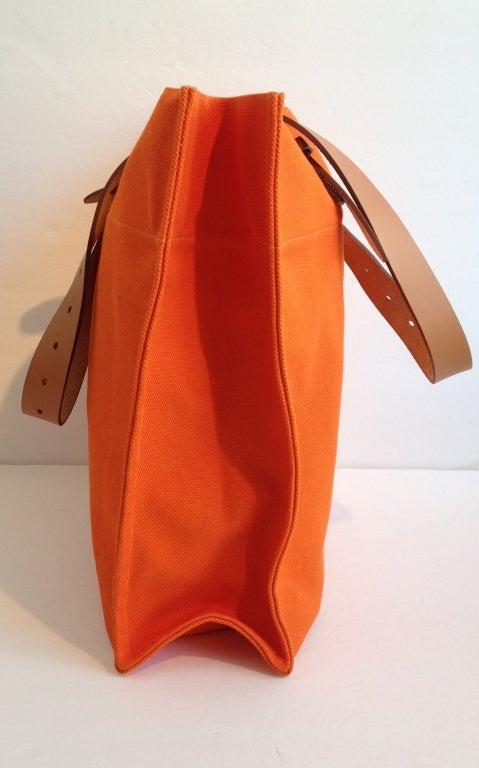 how to tell a fake birkin bag - Hermes Orange Canvas Tote Bag at 1stdibs