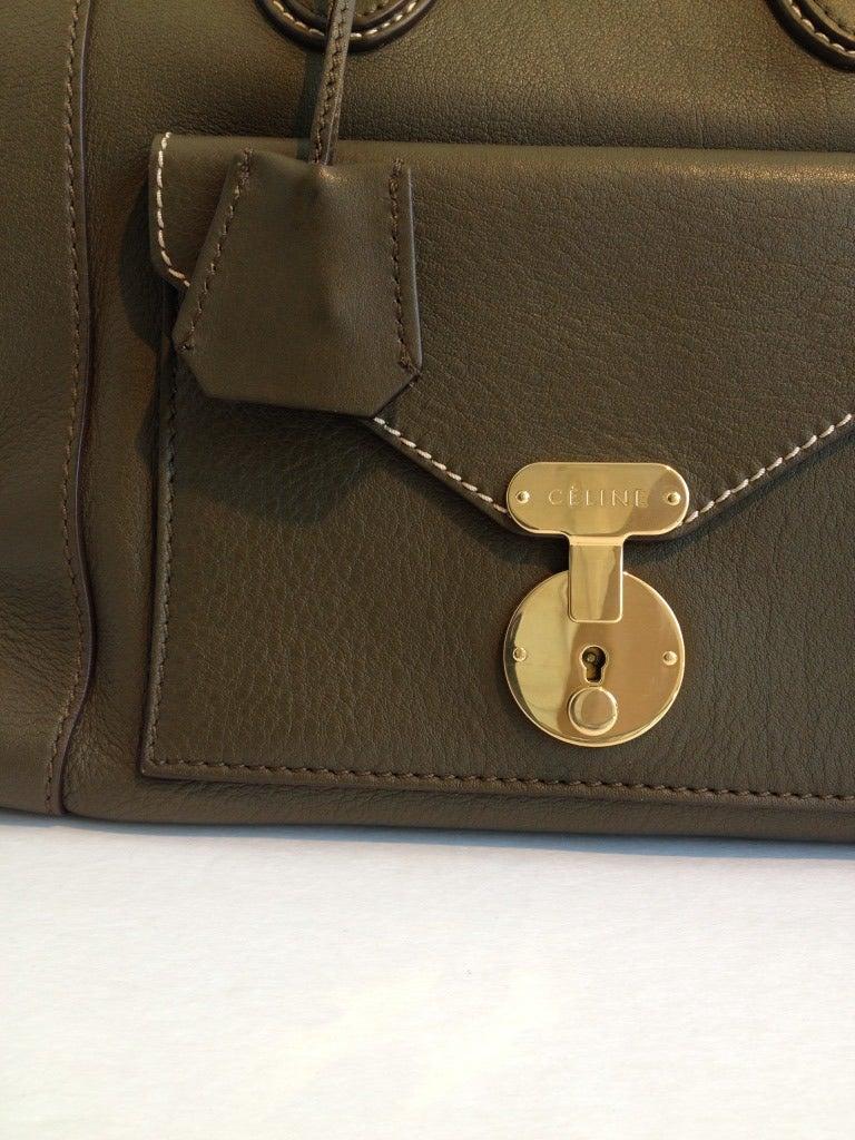 Celine Olive Mini Luggage Envelope Tote at 1stdibs