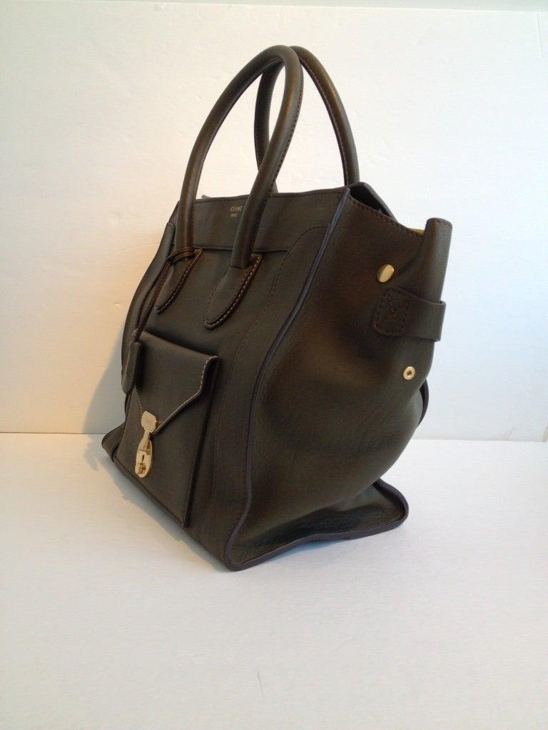 buy celine luggage online - Celine Olive Mini Luggage Envelope Tote at 1stdibs