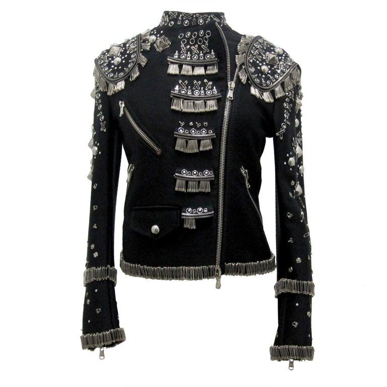 Punk Inspired Moschino Safety Pin Jacket At 1stdibs