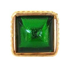 Philippe ferrandis Gripoix Bold Green Ring Paris Never Worn 1990s
