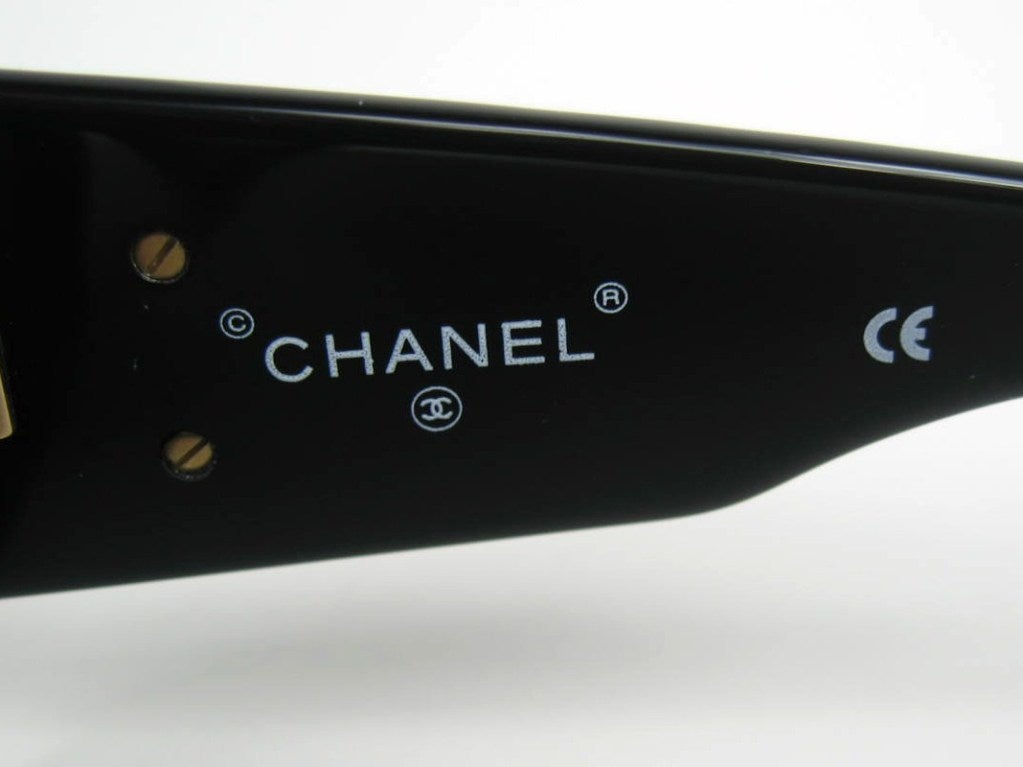 Quilted Chanel Sunglasses Chanel Black Quilted Logo