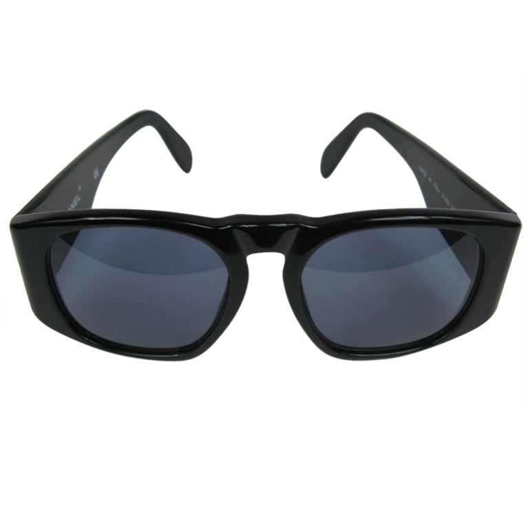 Chanel Black Sunglasses  chanel black quilted logo sunglasses at 1stdibs