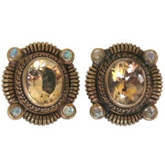 1990s Stephen Dweck Bronze Wash Sterling Silver Earrings