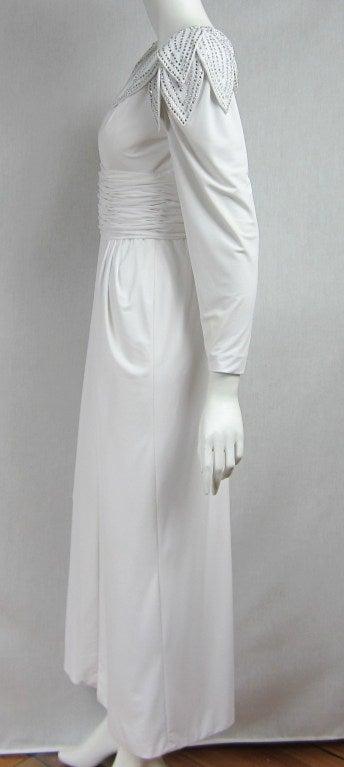 Vintage 1980's Lilli Rubin Avant Garde White Jersey Gown 6