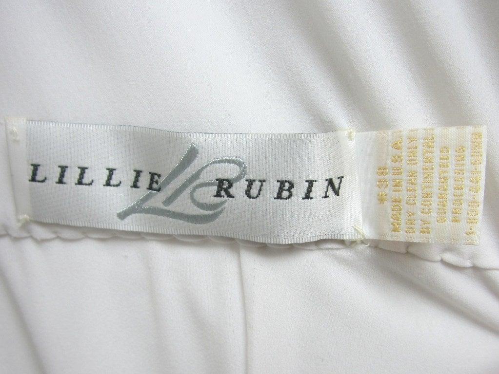 Vintage 1980's Lilli Rubin Avant Garde White Jersey Gown 9