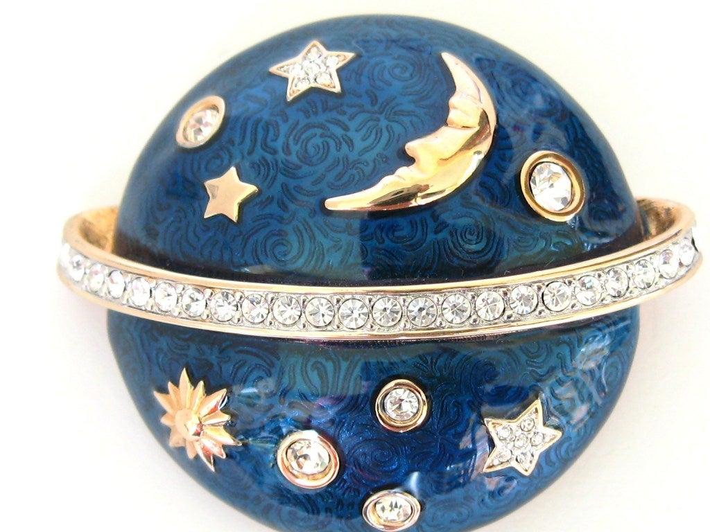 Swarovski The Moon & The Stars Brooch - Deadstock 3
