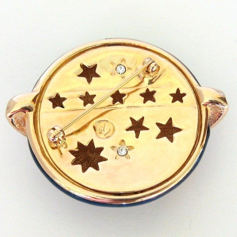 Swarovski The Moon & The Stars Brooch - Deadstock 4