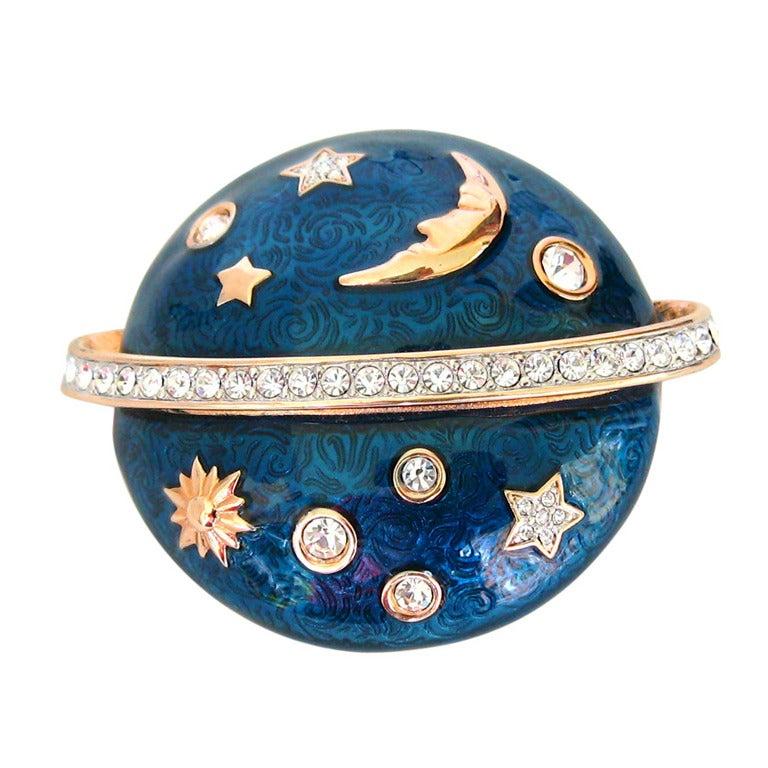Swarovski The Moon & The Stars Brooch - Deadstock 1