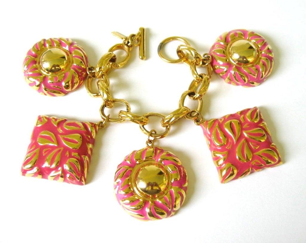 634547d66 ... Wonderfully Rare Vintage Charm Bracelet At 1stdibs: Vintage Escada  1980s Charm Bracelet Never Worn For