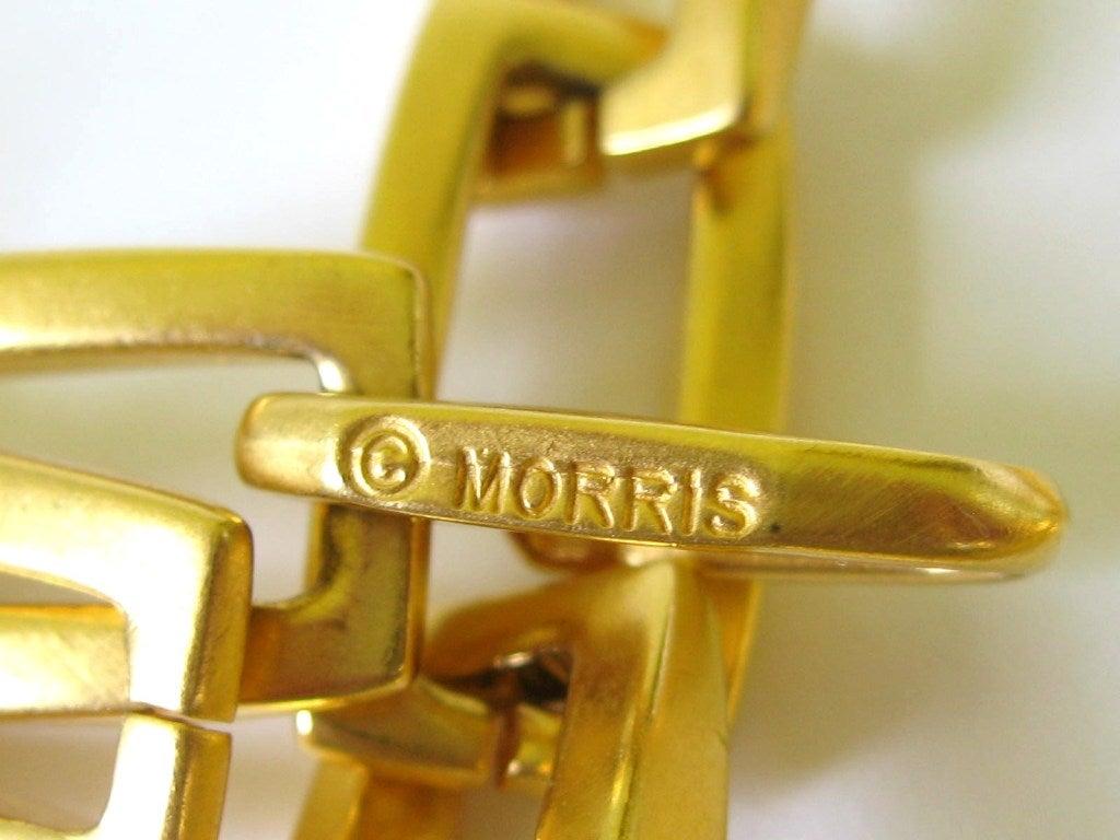 1980s Robert Lee Morris Chain link Disc Necklace 7