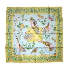 1990's Hermes La Vie au Grand Air Silk Scarf New, Never worn